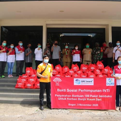OCBD berkolaborasi dengan Komunitas INTI untuk memberikan bantuan sembako kepada masyarakat sekitar